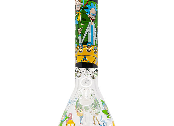 Rick N Morty Adventure 14 Inches Glass Bong