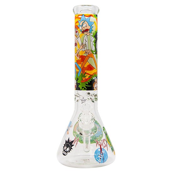 Rick N Morty Scientist 14 Inch Glass Bong