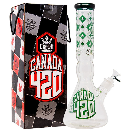 "Canada 420 14"" Bong - Crown Glass"