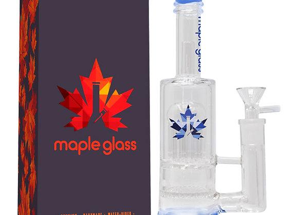"Blue Maple Glass Bong 12"""