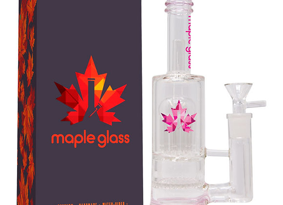 """Pink Maple Glass Bong 12"""""""