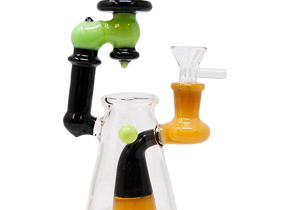 Milk Green Mini Glass Bong