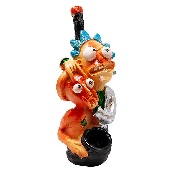 Rick and Morty Eyez Wide Open Terracotta Pipe