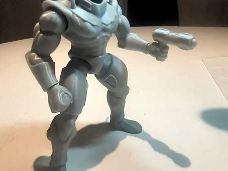 Fearsome Phantos' first 3D print, ready for full production...