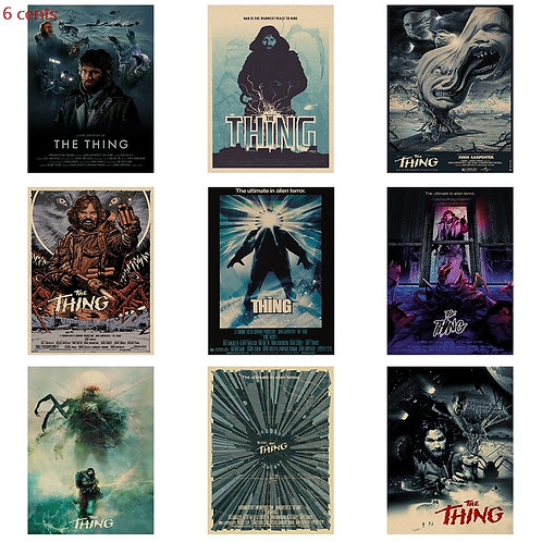 The Thing Retro Movie Poster