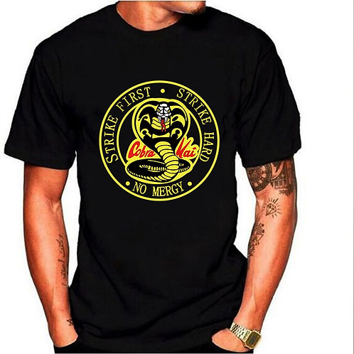 Cobra Kai Strike Hard Strike First No Mercy T-Shirt