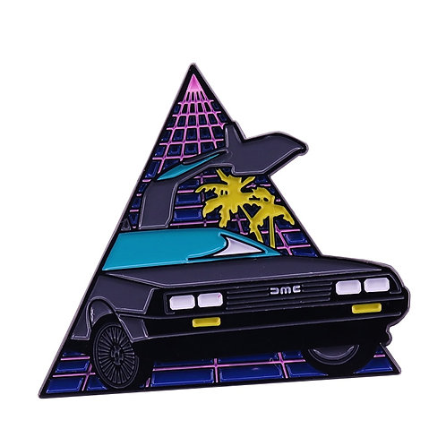 Back to the Future Delorean Enamel Pin