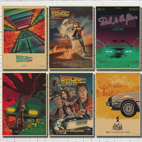 DIY Back to the Future Retro Kraft Poster