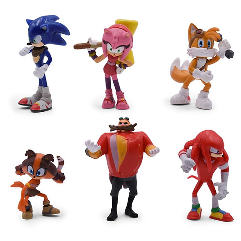 4-7cm Sonic The Hedgehog - Sonic Boom 6 piece set