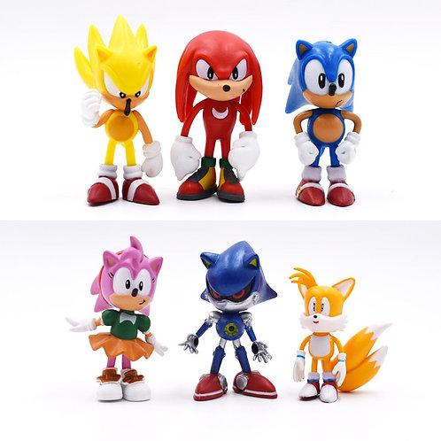 7cm Sonic The Hedgehog 6 piece set