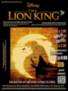 LION KING JR POSTER PERFORMANCE ADDED JP