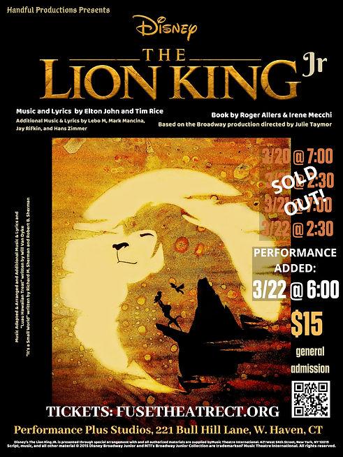 LION KING JR POSTER PERFORMANCE ADDED JP
