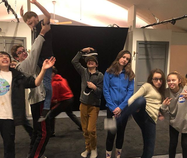 Week two of FOCUS Teen Improv Club winte