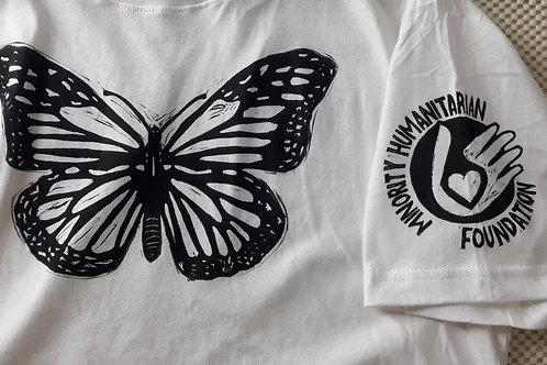 Large Monarch Woodblock T-Shirt