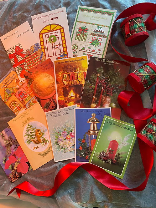 Vintage Holiday Cards (Spanish)