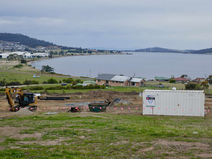 Bay views new homes families Hobart