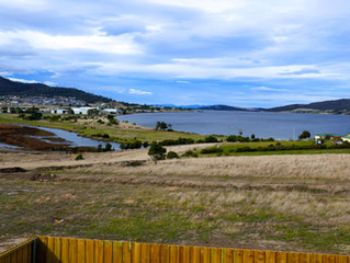 View from Ronald Young Display Home  at North Bay Tasmania