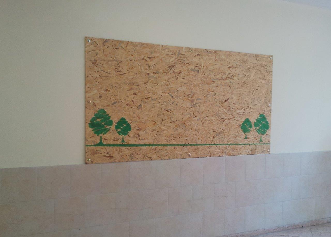 לוח נעיצה קשיח לתצוגת עבודות