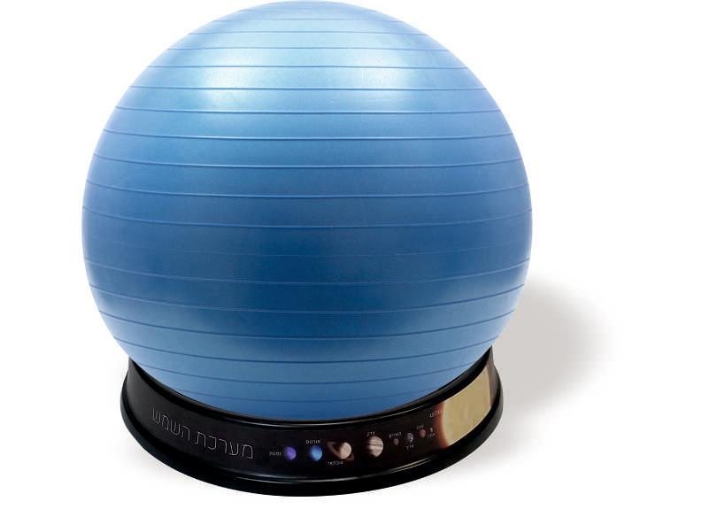 כדור ישיבה כחול-בסיס שחור מערכת השמש