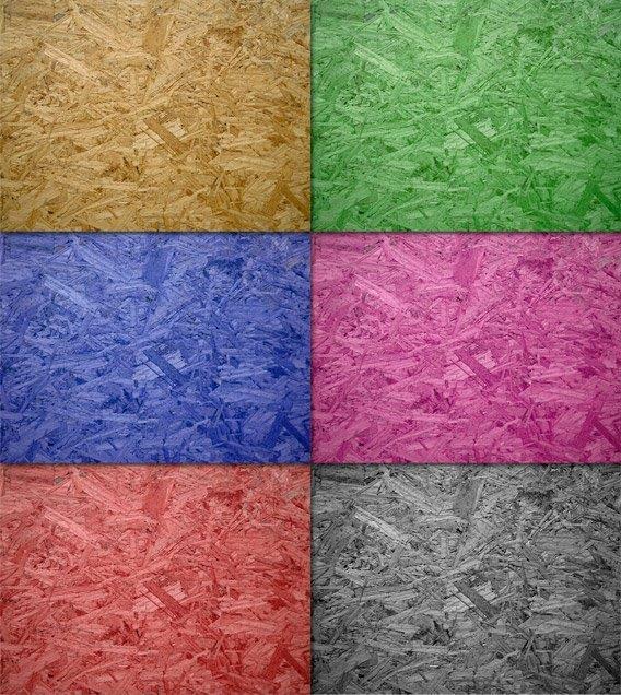 לוחות OSB במגוון צבעים