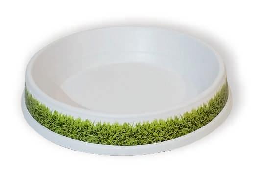 בסיס לבן לכדור ישיבה- דשא