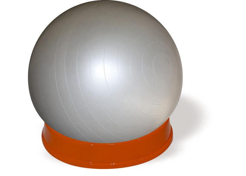 כדור ישיבה אפור-בסיס כתום- חלק