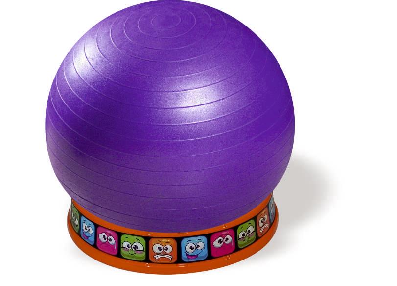 כדור ישיבה סגול-בסיס כתום- רגשות