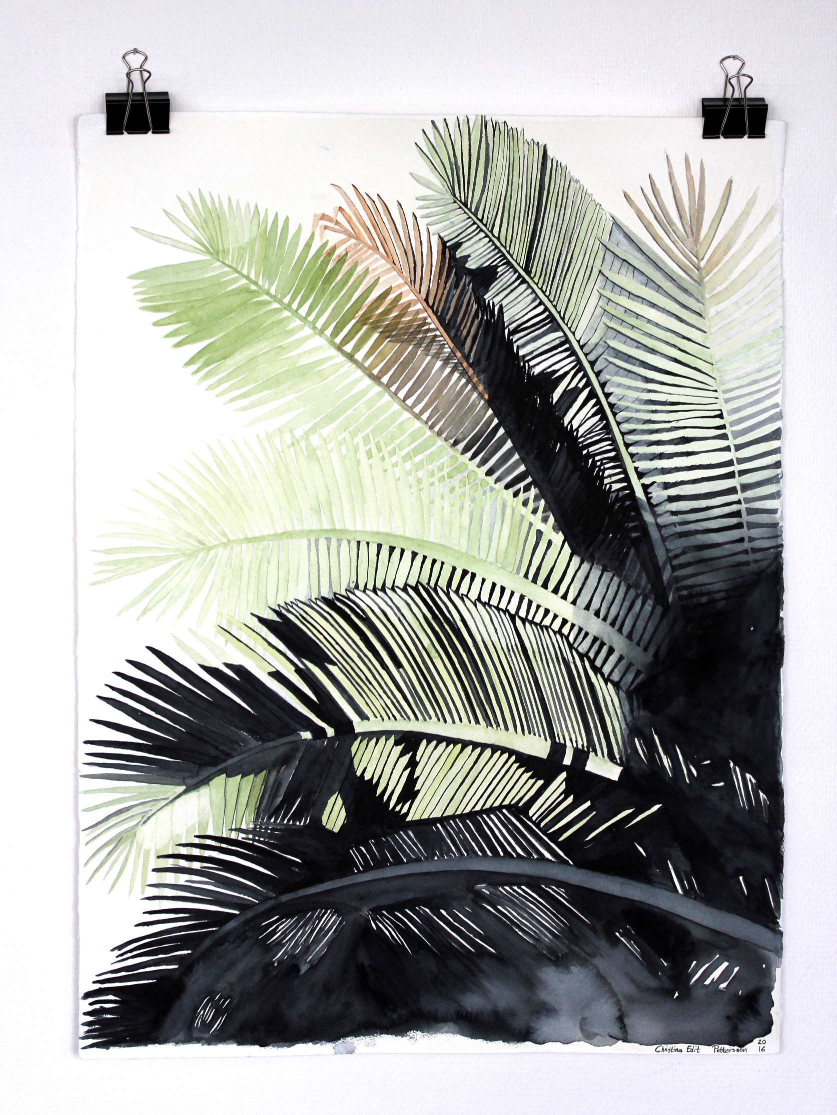Bläck, blyerts & Akvarell