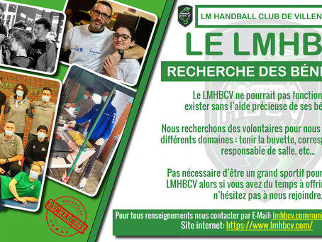 Le LMHBCV recherche des bénévoles...
