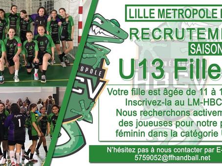 Le LMHBCV recrute des U13 filles