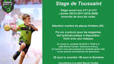 Stage U11 - U13 (2009-2010-2011-2012)