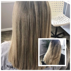 Before and After Dark Blonde Hair Full Foil