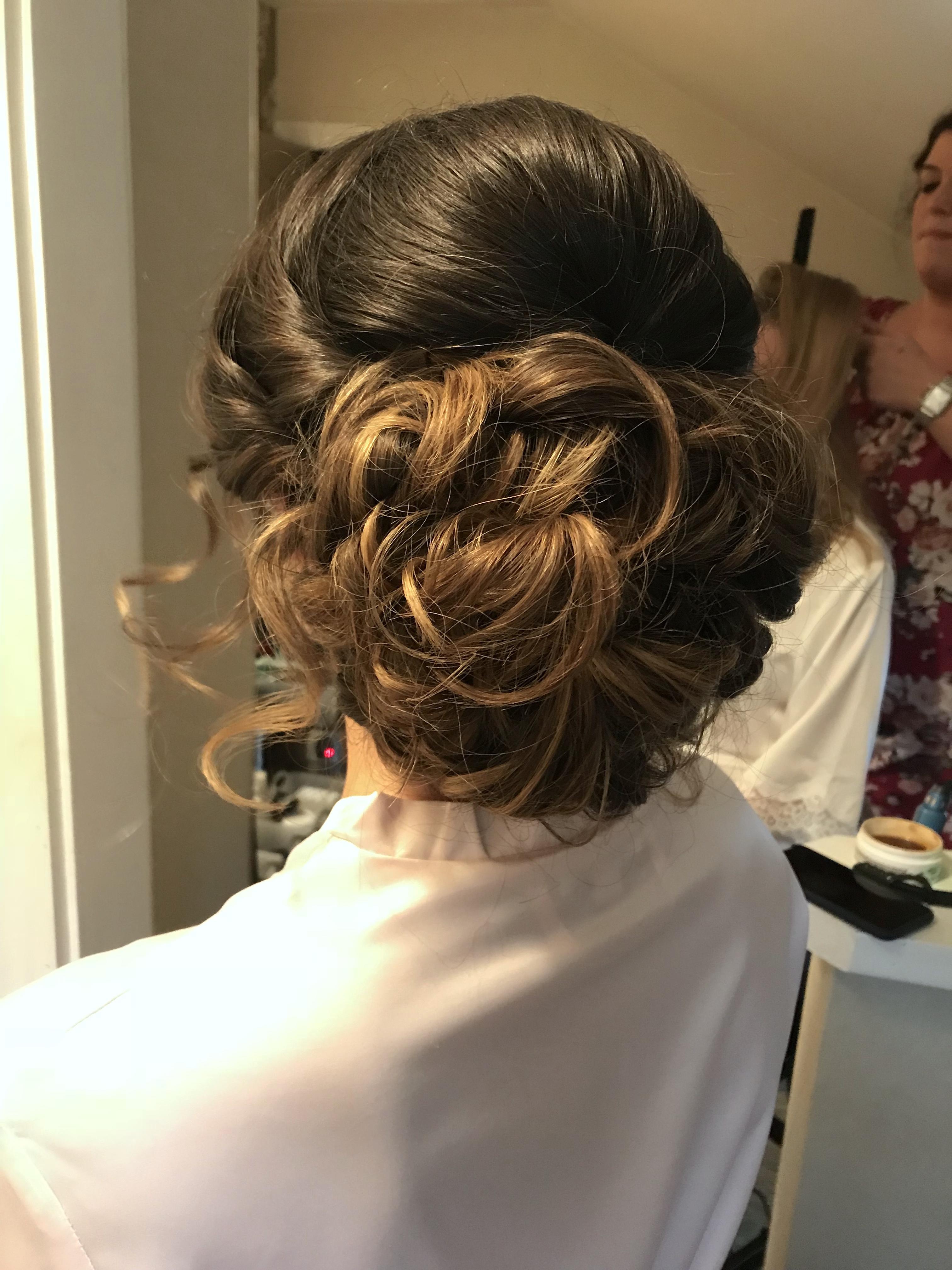 Brunette Balayage Bridal Updo