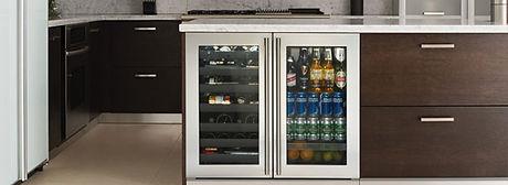 U-Line Glass Door Refrigerator