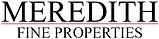Meredith Logo Black Letters Red Line.png