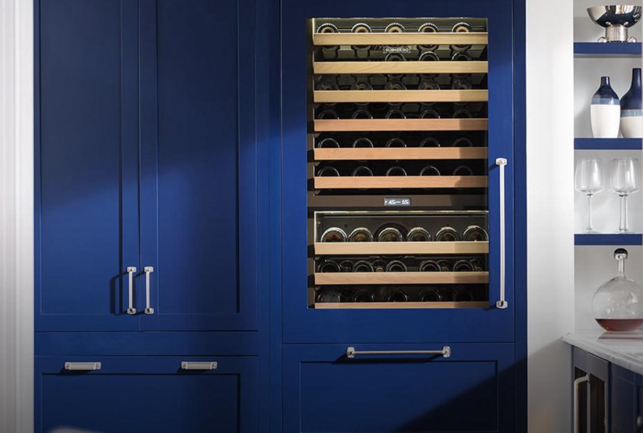 Subzero Build In Refrigerator and Wine Cooler