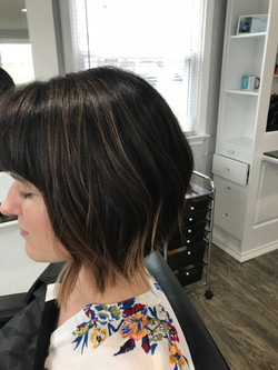 Full color and Highlight face framing