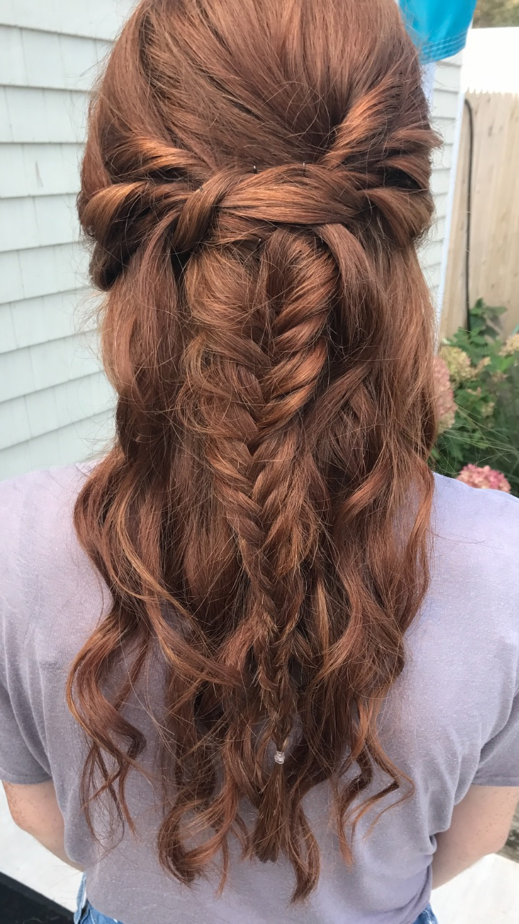 Half-up Half-down formal hairstyle with braid