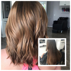 Before and After Hair Balayage
