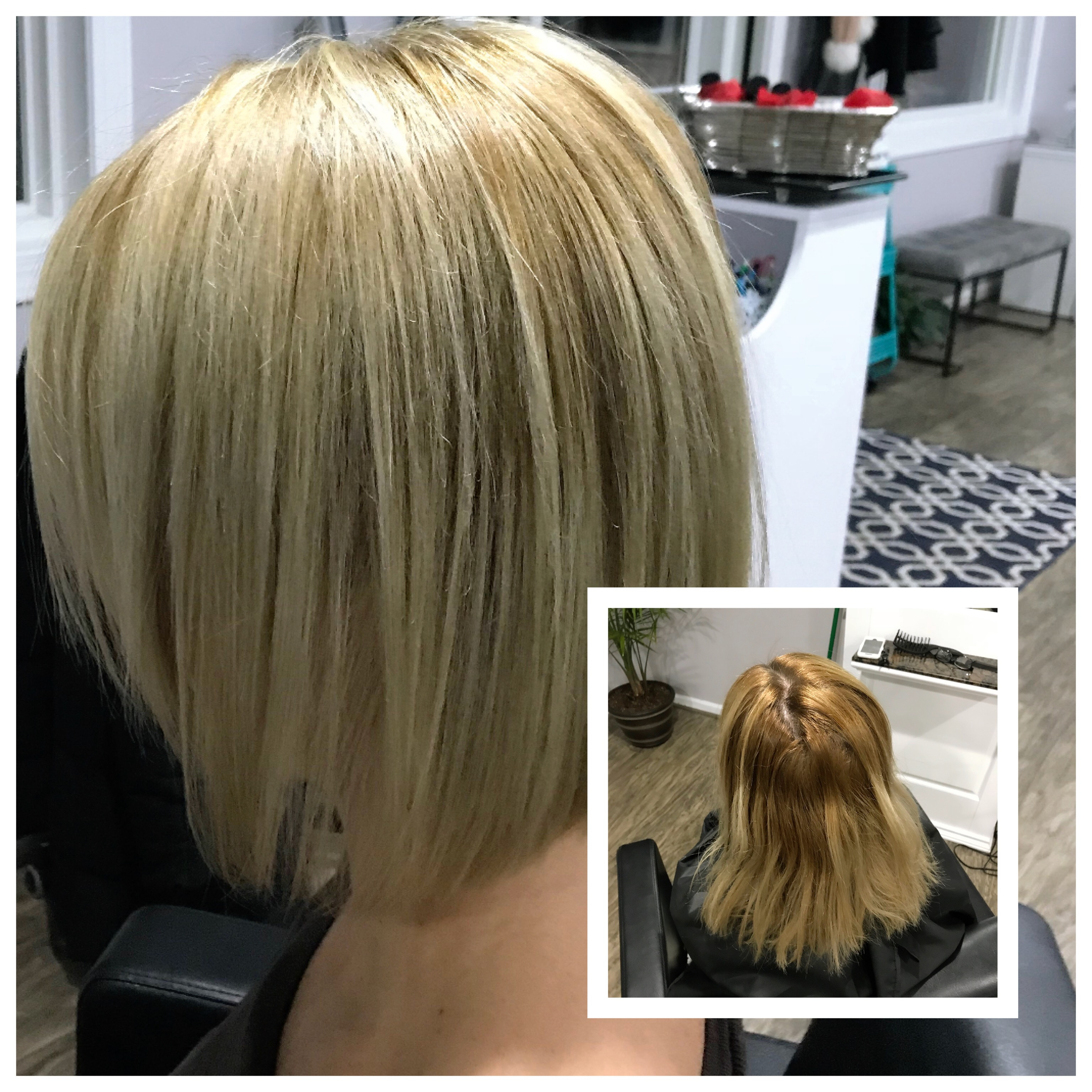 Before and After Blonde Hair Color Correction