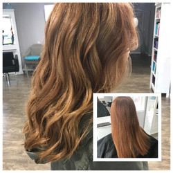 Before and After Red Hair Balayage