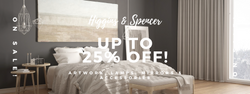 40 percent off at higgins and spencer