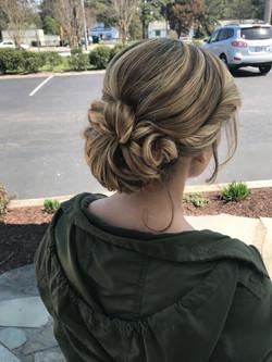 Blonde Hair Formal Updo with Low Bun
