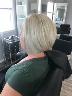 Full color ash blonde