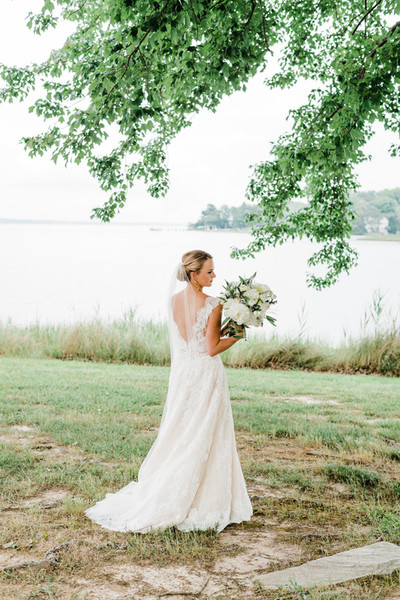 Blonde Bridal Updo with veil