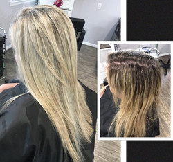Before and After Image of Blonde Hair