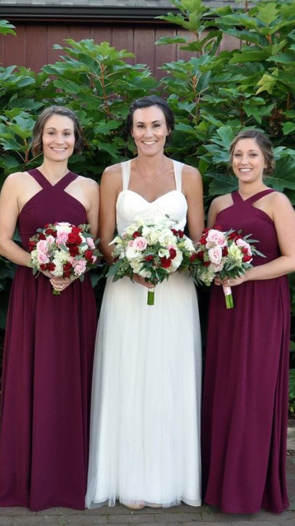 Bride and Bridesmaid's Fomal Updo and Makeup