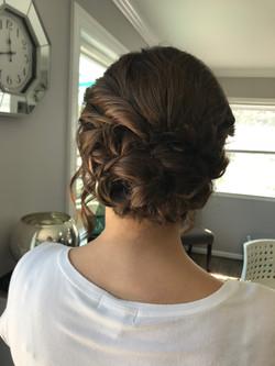 Brunette Hair Formal Updo