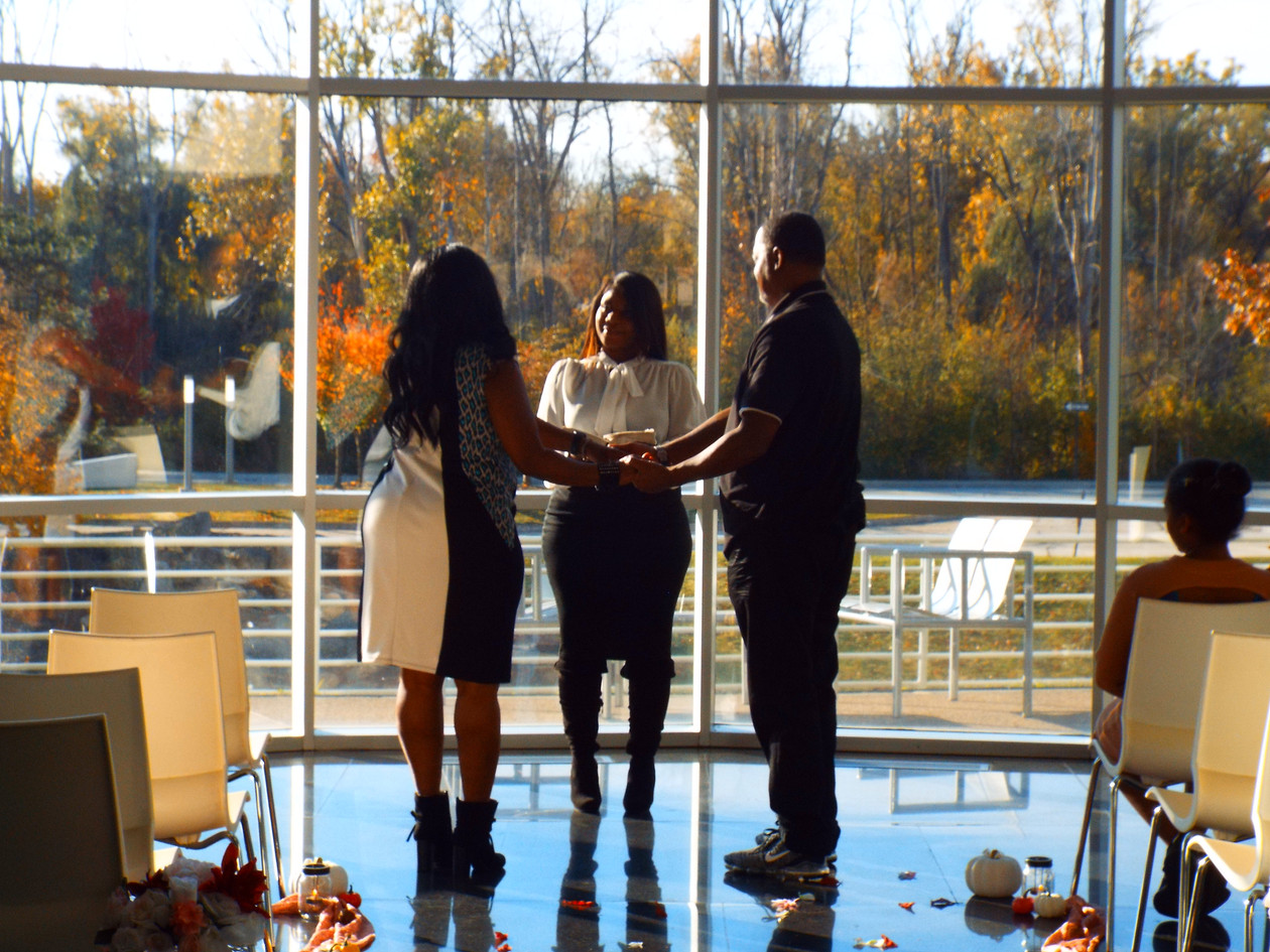 Our very own Ericka officiating her first elopement