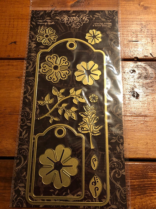 Graphic 45 Large Tag & Flower 4501687